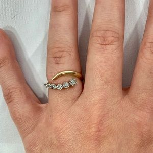 Solid 10K Yellow Gold Diamond Band Ring